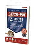 JTEaton STICK-EM 2 Mouse Glue Traps 24 Packs