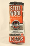 Coarse Steel Wool - 16 pads